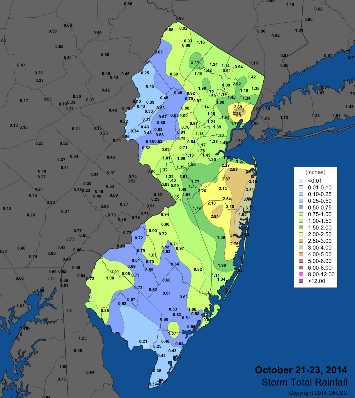 Oct 21-23 Rain Map