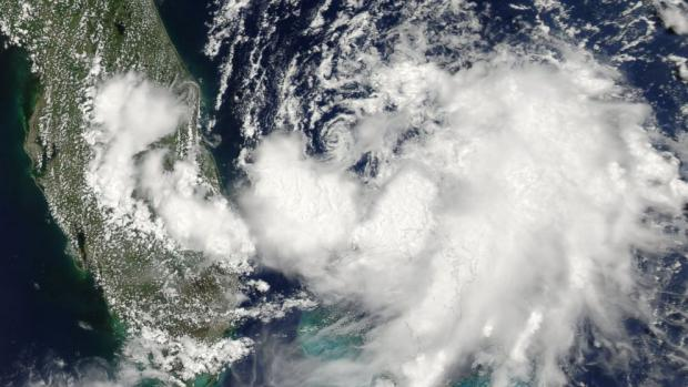 July 1 satellite photo of Tropical Storm Arthur, just off the coast of Florida. (Photo: NASA / ABC News)
