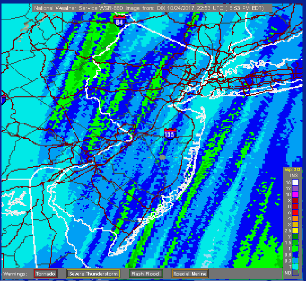 October 24 radar estimate precip