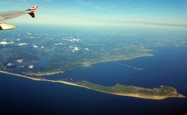 Sandy Hook from plane