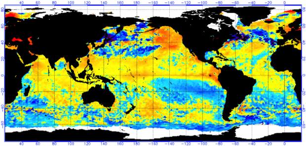 Map of impending El Nino