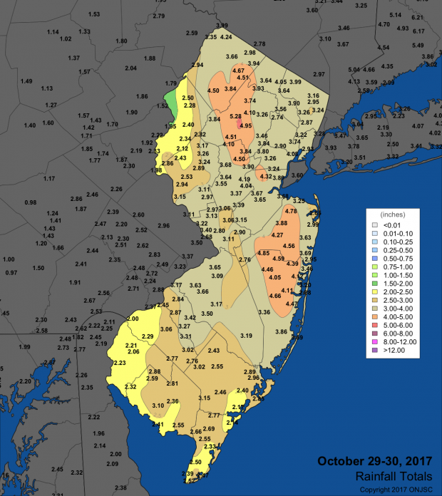 October 29-30 2017 rainfall total map