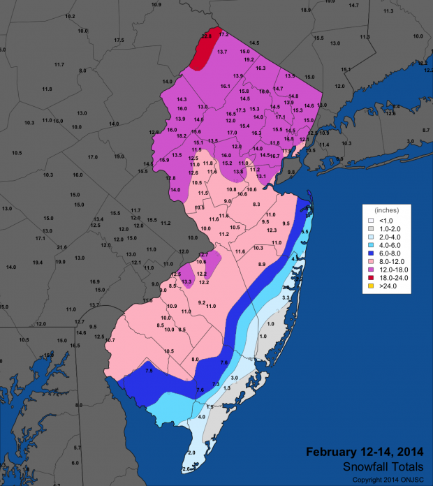 Snow And More Snow Snow Season Recap New Jersey - Average annual snowfall map us