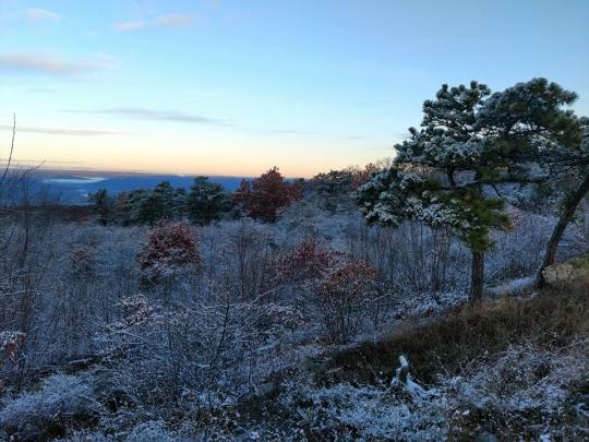 High Point snow, November 8