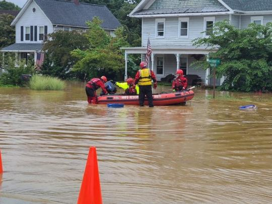 Flash flooding and residential evacuations in Helmetta on August 22