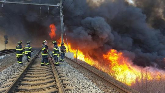 Brush fire photo