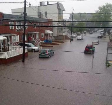 Bayonne street flooding
