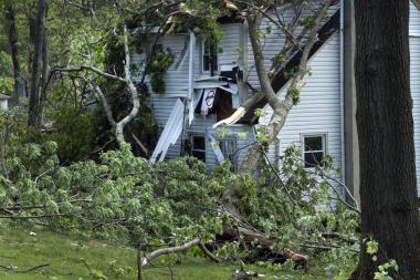 Stanhope tornado damage