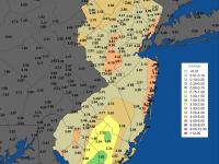 Tropical Storm Andrea rain totals