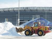 Snow removal at Metlife Stadium