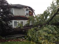 Damage from tornado in Paramus
