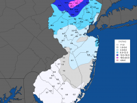 2019/20 season snowfall map